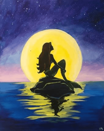 Little Mermaid Painting With A Twist