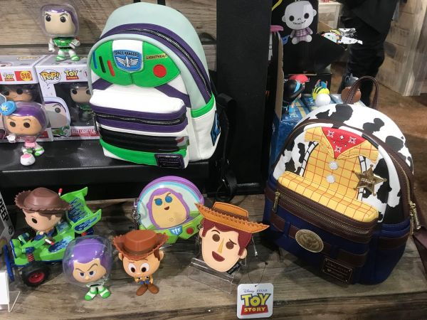 144bb54ec3b The fun new Toy Story Loungefly Bags are currently available at Disneyland