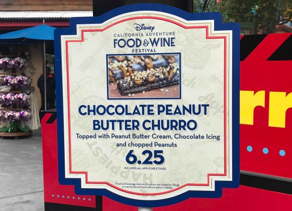 Chocolate Peanut Butter Churro Now at California Adventure Food & Wine Festival 2