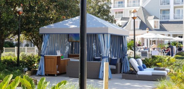Pool Side Cabanas Now at Yacht & Beach Club Resorts