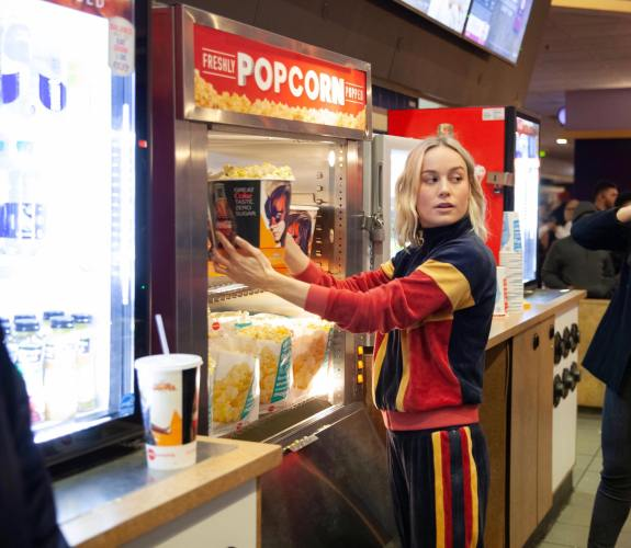 Brie Larson Helps Out Fans at Captain Marvel Screening 1