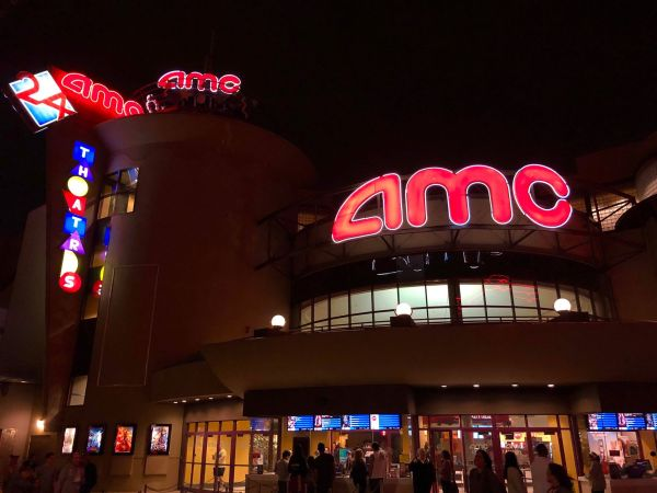 Construction at AMC Theater in Disney Springs