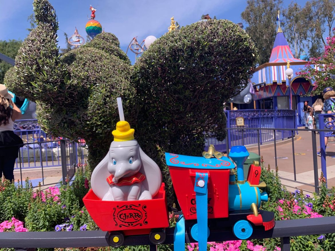 New Casey Jr Popcorn Bucket and Dumbo Sipper Cup now available at Disney Parks