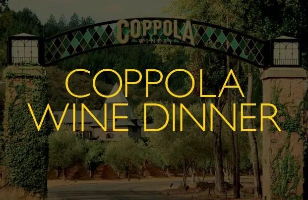 Catal in Downtown Disney Hosts Coppola Wine Pairing Dinner