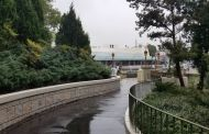 Construction Widening Magic Kingdom Pathway Leading From Cinderella's Castle To Tomorrowland Completed