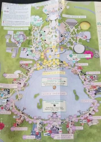 2019 EPCOT International Flower And Garden Festival Park Maps
