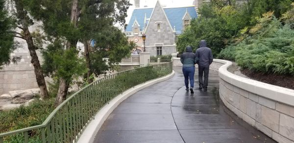 Construction Widening Magic Kingdom Pathway Leading From Cinderella's Castle To Tomorrowland Completed 2