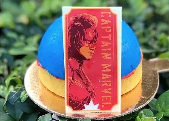 Captain Marvel Blue Raspberry Dome Dessert at Disney's All-Star Movies Resort