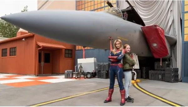 Meet Captain Marvel in Disney California Adventure Park