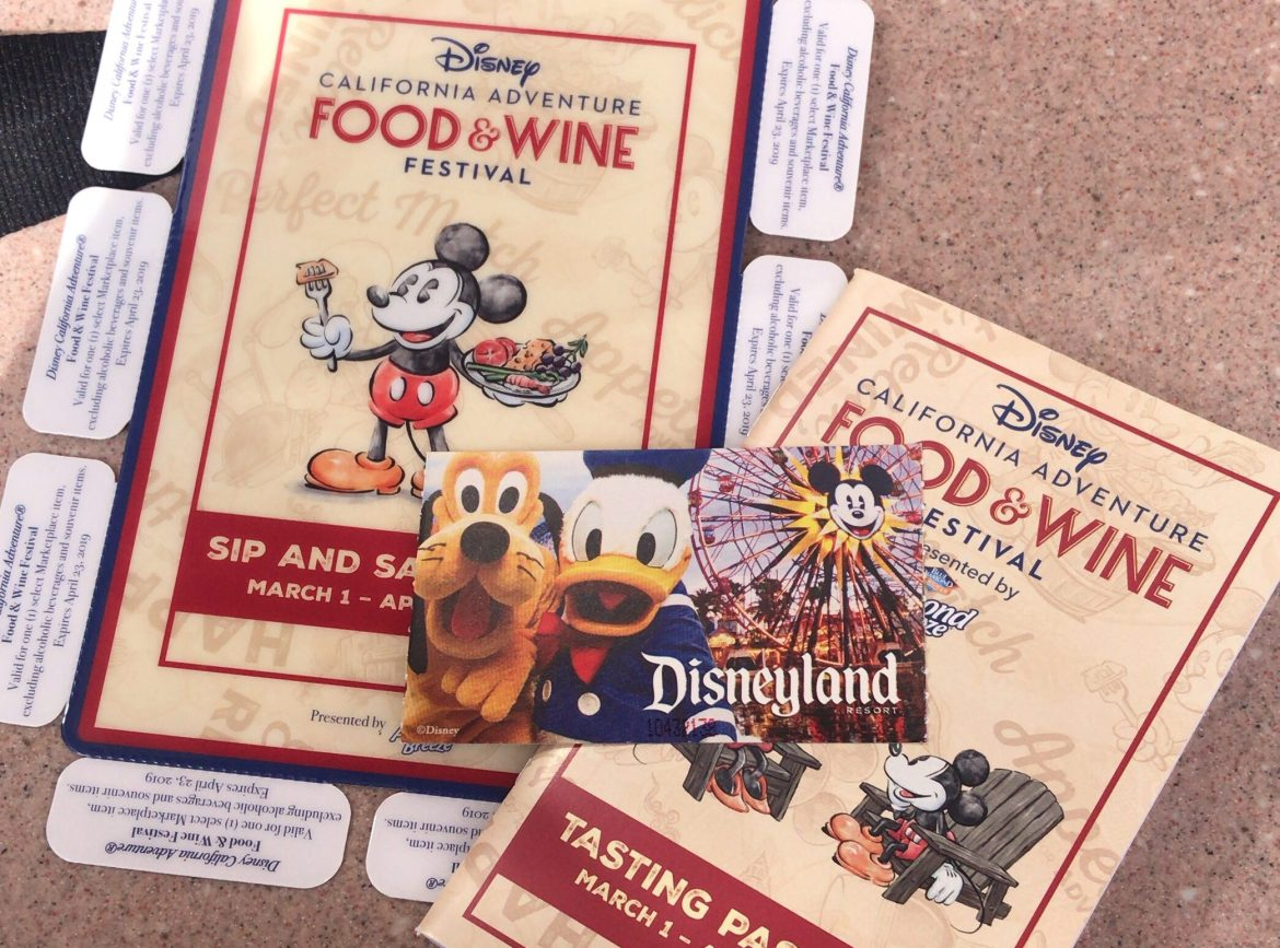 Disney's California Adventure Sip and Savor Pass for the Food and Wine Festival