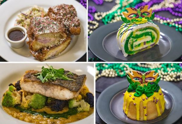 Café Orleans at Disneyland Celebrating with Tasty Mardi Gras Offerings.