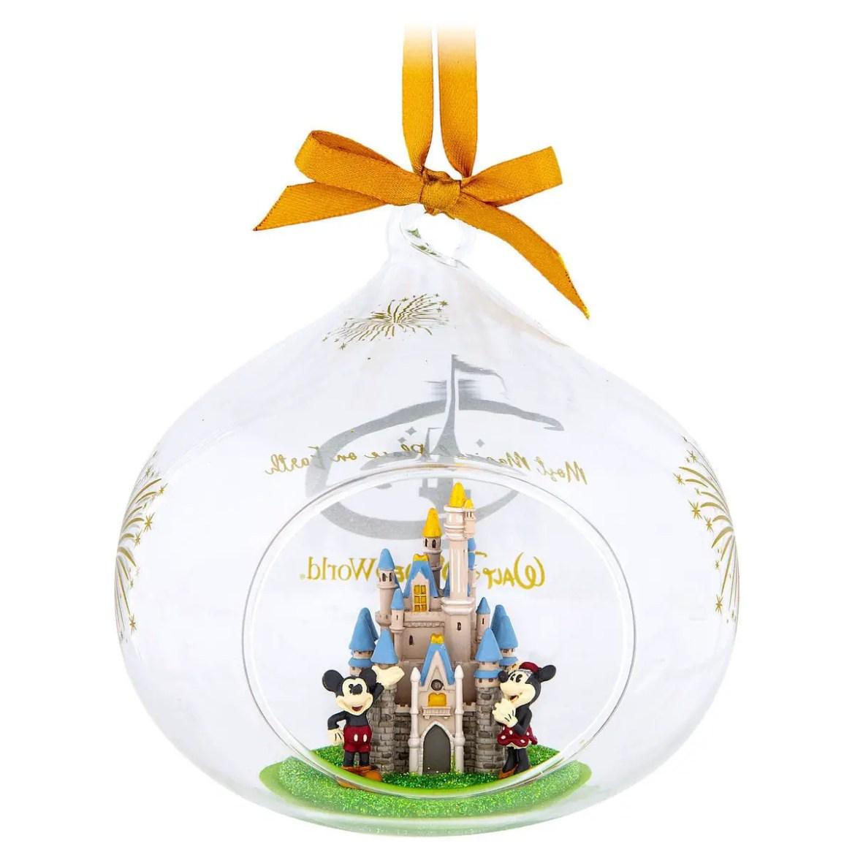 Cinderella Castle Glass Drop Ornament Captures The Magic Of WDW