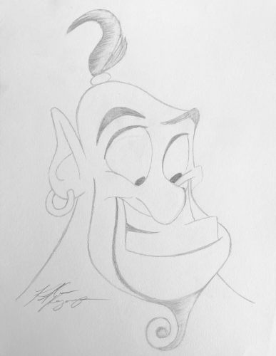Rate Our Writers Attempt at Drawing Genie from Disney's Aladdin 8