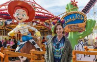 Charlize Theron Visit's the New Jessie's Critter Carousel at Disney California Adventure
