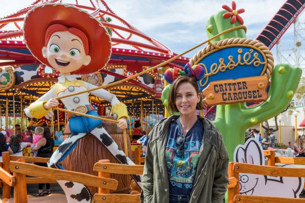 Charlize Theron Visit's the New Jessie's Critter Carousel at Disney California Adventure 1