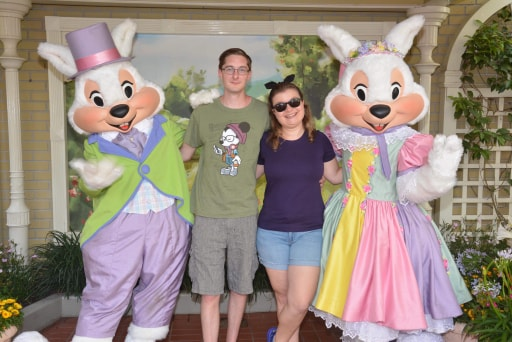 Mr. & Mrs. Easter Bunny at Magic Kingdom!