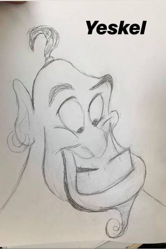 Rate Our Writers Attempt at Drawing Genie from Disney's Aladdin 2