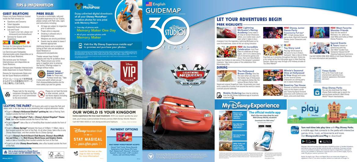 Disney's Hollywood Studios Unveils New Park Map