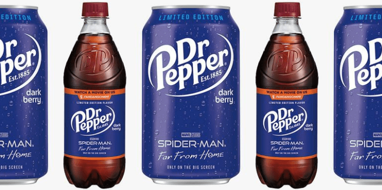 New Dark Berry Dr. Pepper Coming to Celebrate Spiderman Far From Home
