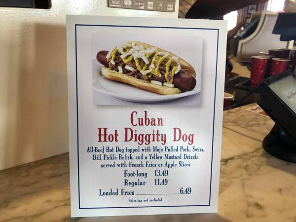 Casey's Corner Hot Diggity Dog of the Month, The Cuban Hot Dog.
