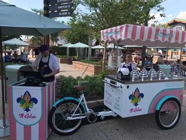 New Vivoli il Gelato Bicycle Cart Now Serving at Disney Springs