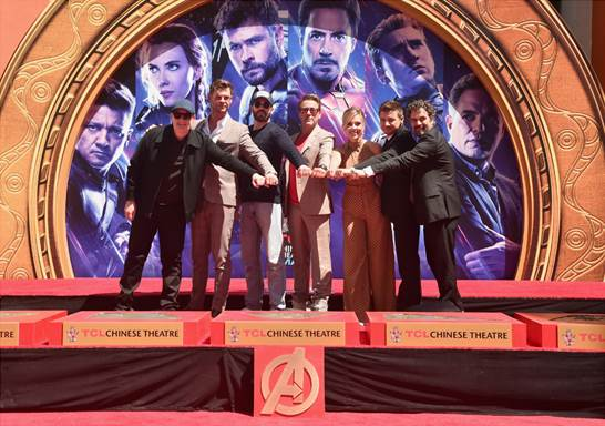 "MARVEL STUDIOS AVENGERS: ENDGAME"" STARS PLACE HANDPRINTS IN CEMENT AT TCL CHINESE THEATRE"