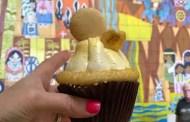 Macaron Topped Banana Caramel Cupcake From Contempo Café At Disney's Contemporary Resort