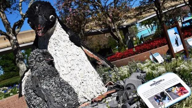 """Disneynature's """"Penguins"""" Inspires Conservation Efforts With Marine Debris Sculpture"""
