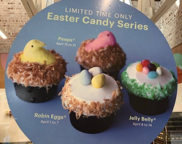 Sprinkles Easter Candy Series Cupcakes at Disney Resorts.