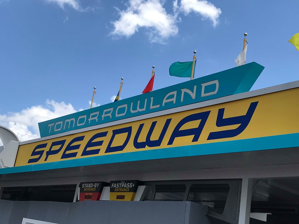 New Paint Job for Tomorrowland Speedway!