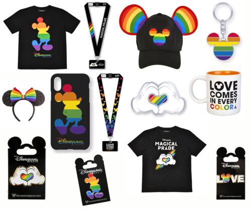 'Love Comes In Every Colour' Merchandise at Disneyland Paris
