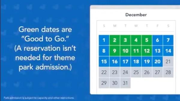 Flex pass Green is a go calendar