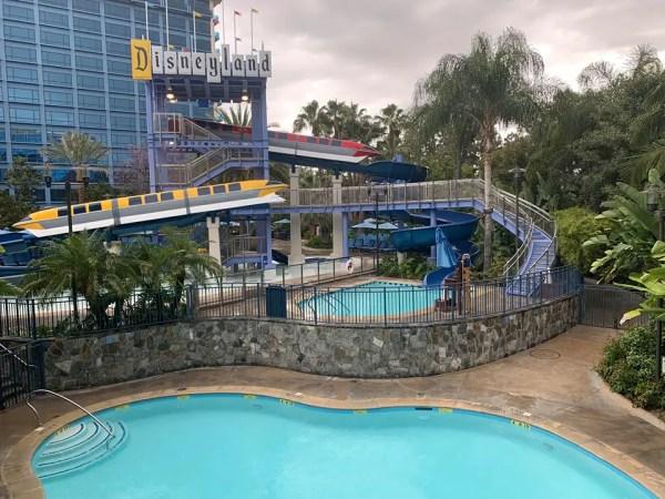 Disneyland Resort Hotel Pool Has Completed Refurbishment.