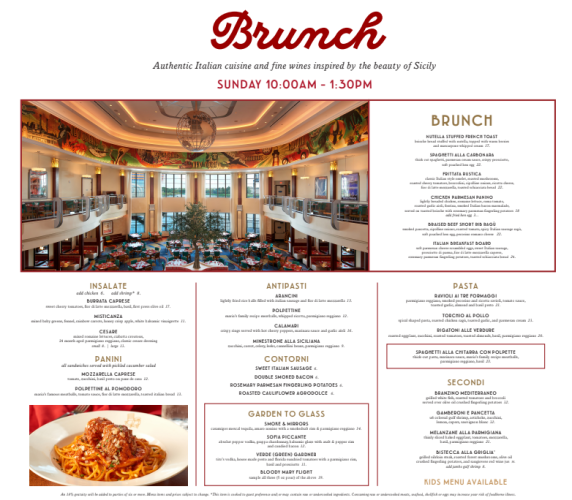 New Brunch at Maria & Enzo's offering A La Carte Options 4