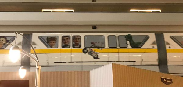 Toy Story 4 wrap on yellow monorail