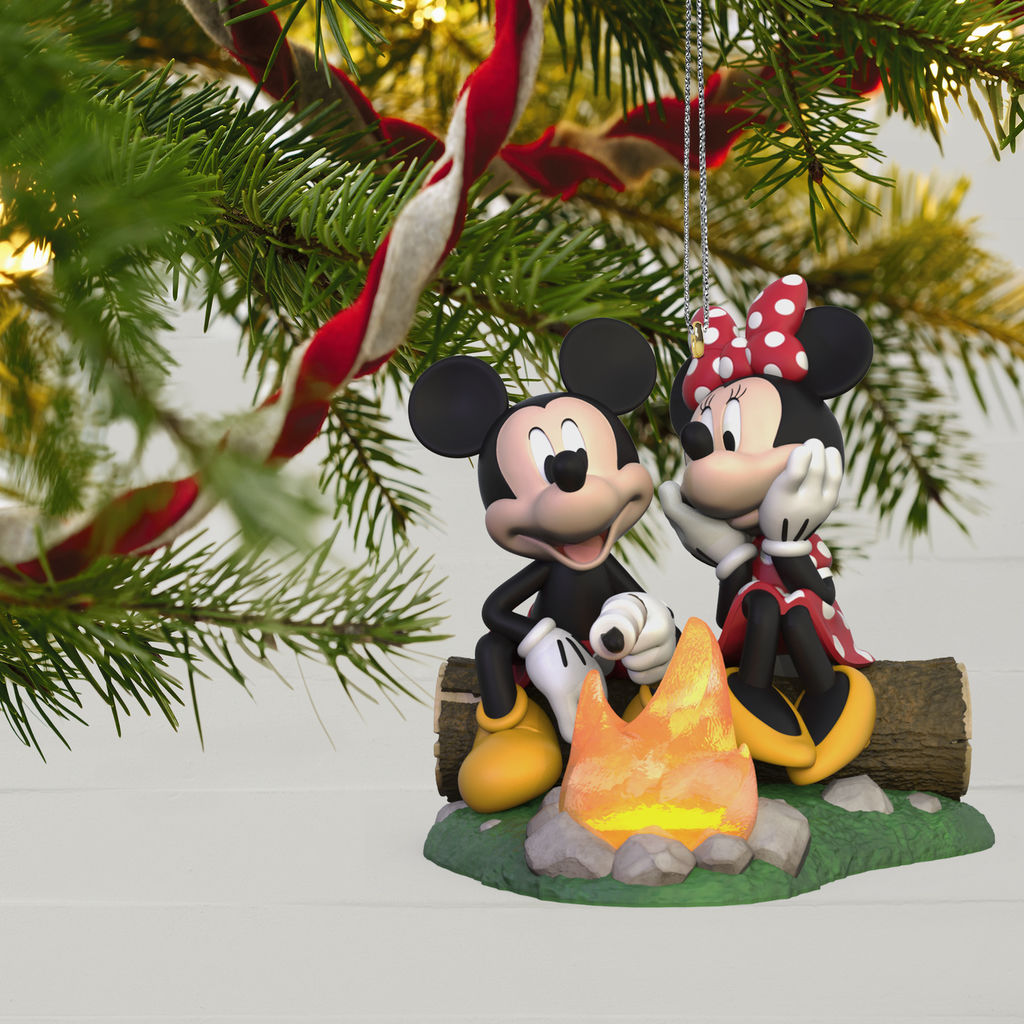 Disney Parks Mickey Mouse Red Filigree Jeweled Metal Holiday Ornament New