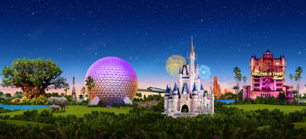 Disney World Website showing park hours for beginning of May 1