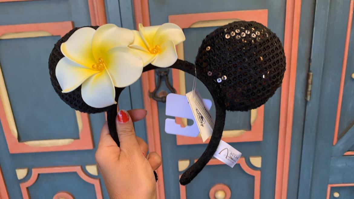 Plumeria Minnie Mouse Ears Now Available At Walt Disney World