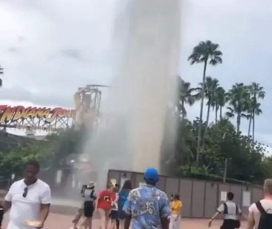 Breaking News: Apparent Water Main Break at Hollywood Studios