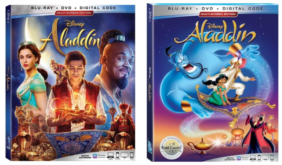 Experience the Original and Live Action Disney's Aladdin on Digital & Bluray starting this August