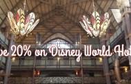 Save Up to 20% on Rooms at Select Disney World Resorts This Fall and Holiday Season