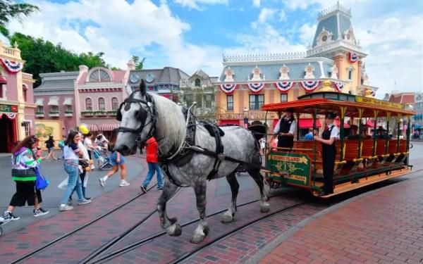 Disneyland Has a New Horse Working on Main Street, U S A!