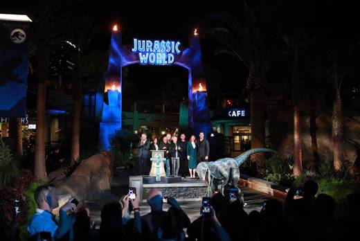 """Universal Studios Hollywood Marks the Grand Opening of """"Jurassic World—The Ride"""" with a Star-Studded Celebration"""