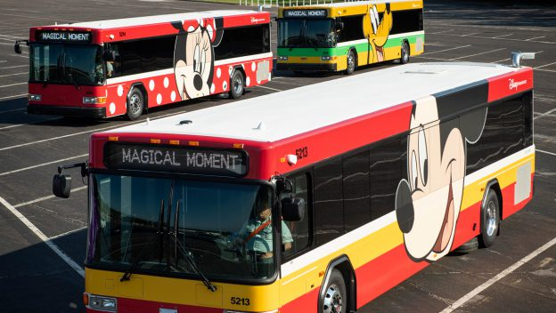 New Disney Buses are Rolling out at Walt Disney World