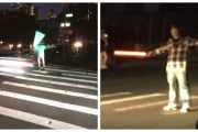 NYC Residence Use Lightsabers From Star Wars To Direct Traffic During Blackout