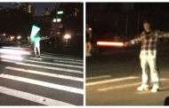 NYC Residents Use Lightsabers From Star Wars To Direct Traffic During Blackout