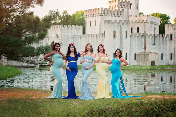 Photography Couple Coordinated Disney Princess Inspired Maternity Shoot