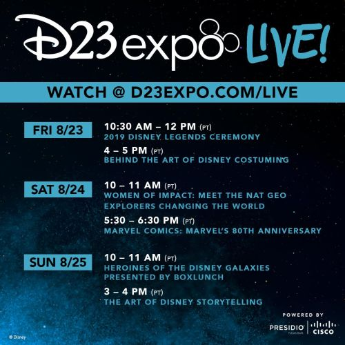 'D23 Expo Live!' Will Allow Disney Fans to Live Stream the D23 Expo 2