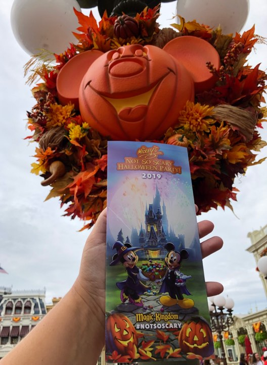 Mickey's Not So Scary Halloween Party Park Map