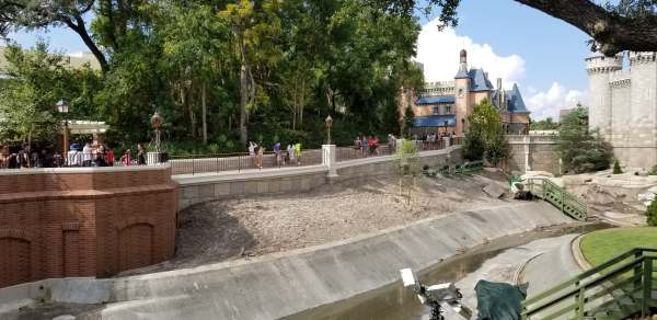 Walt Disney World Magic Kingdom Pathway Expansion Construction 3